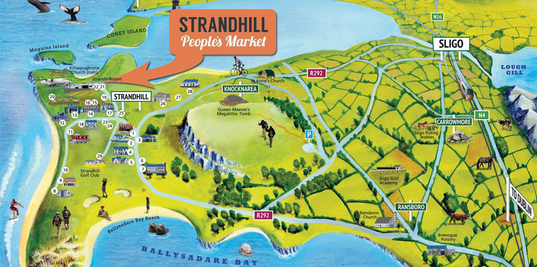 Strandhill People's Market - Map