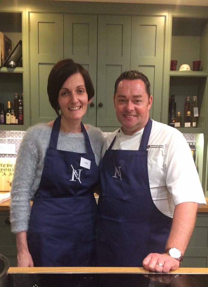 Sarah with her idol, Neven Maguire
